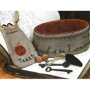 Stacy Nash Primitives - Jack Of The Lantern Sewing Basket & Treat Bag THUMBNAIL