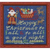 Tempting Tangles Designs - Happy Christmas To All Santa