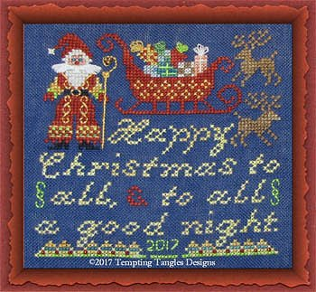Tempting Tangles Designs - Happy Christmas To All Santa MAIN
