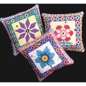 Bobbie G Designs - Three Flower Pincushions