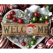 Needle Bling Designs - Wee Welcome's - December Santa THUMBNAIL