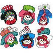 Imaginating - Snowman Mitten Ornaments 3131