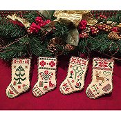 Scissor Tail Designs - Christmas Stocking Ornaments THUMBNAIL