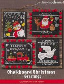 Tiny Modernist - Chalkboard Christmas Greetings THUMBNAIL