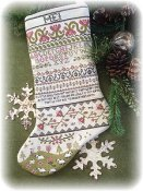 Annie Beeze Folk Art - Band Sampler Stocking THUMBNAIL