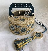 Mani Di Donna - Blue Quaker Sewing Basket