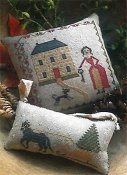 Stacy Nash Primitives - Sleigh Bells Pinkeep & Ornament THUMBNAIL