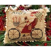 Homespun Elegance - Merry Noel Collection - Avery's Cycling Santa_THUMBNAIL
