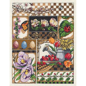 Janlynn Cross Stitch Kit - Spring Montage MAIN