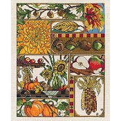 Janlynn Cross Stitch Kit - Autumn Montage_THUMBNAIL