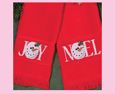 Christmas Snowman Towels