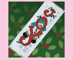 Joy Snowman Bookmark