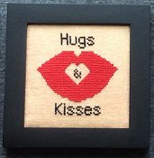 Needle Bling Designs - Home Decor - February Hugs & Kisses
