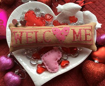 Needle Bling Designs - Wee Welcome's - February Hearts MAIN