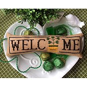 Needle Bling Designs - Wee Welcome's - March Shamrock