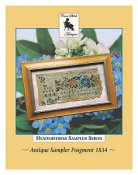 Cross Stitch Antiques - Headmistress Sampler Series - Antique Sampler Fragment 1834 THUMBNAIL
