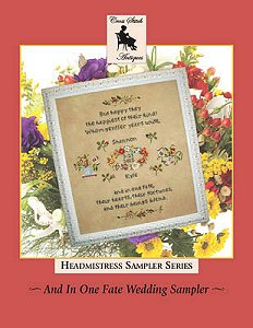 Cross Stitch Antiques - Headmistress Sampler Series - And In One Fate Wedding Sampler MAIN