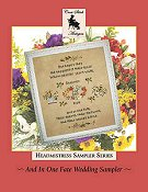 Cross Stitch Antiques - Headmistress Sampler Series - And In One Fate Wedding Sampler THUMBNAIL