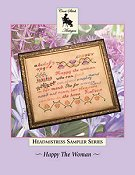 Cross Stitch Antiques - Headmistress Sampler Series - Happy The Woman THUMBNAIL