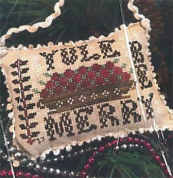 Homespun Elegance - 2017 Sampler Ornament - Yule Be Merry_MAIN