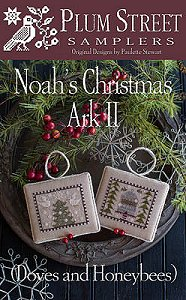 Plum Street Samplers - Noah's Christmas Ark II - Doves and Honeybees MAIN