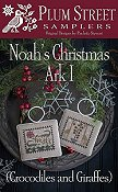 Plum Street Samplers - Noah's Christmas Ark I - Crocodiles and Giraffes THUMBNAIL