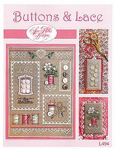 Sue Hillis Designs - Buttons & Lace MAIN