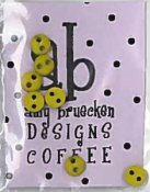 Amy Bruecken Designs - But First, Coffee! Embellishment Pack