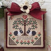 Annie Beez Folk Art - Sheltering Tree; Spring