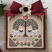 Annie Beez Folk Art - Sheltering Tree; Summer