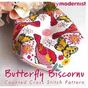 Tiny Modernist - Butterfly Biscornu THUMBNAIL