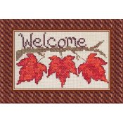 Cross-Point Designs - Fall Leaf Welcome THUMBNAIL