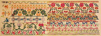 Queenstown Sampler Designs - Mexican Garden 1860 MAIN