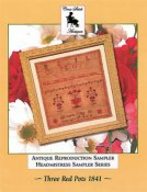 Cross Stitch Antiques - Three Red Pots 1841 THUMBNAIL