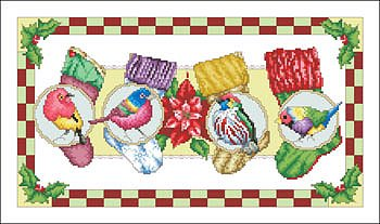 Vickery Collection - Birds With Stockings