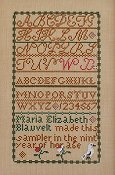 Queenstown Sampler Designs - Maria E Blauvelt c.1839