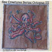 Dames of the Needle - Sea Creatures Series - Octopus III THUMBNAIL