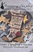 Heartstring Samplery - Stars & Stripes Forever Stocking Ornament #3