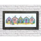 Tiny Modernist - Little Beach Huts - Summer Chart