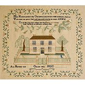 Queenstown Sampler Designs - Ann Barriere Sampler Baltimore Maryland 1820