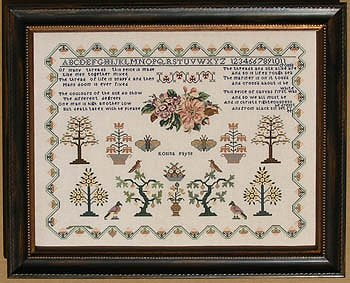Queenstown Sampler Designs - Rosina Payne c. 1834