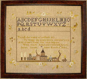 Queenstown Sampler Designs - Sands House Sampler Annapolis, Maryland 1816 MAIN