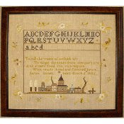 Queenstown Sampler Designs - Sands House Sampler Annapolis, Maryland 1816
