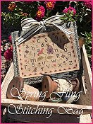 The Scarlett House - Spring Fling Stitching Bag THUMBNAIL