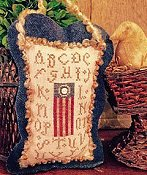 Homespun Elegance - Sampler Flag