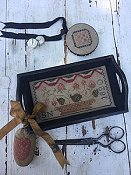 Stacy Nash Primitives - Berry Basket Sewing Tray, Pin Disk & Strawberry Pinkeep THUMBNAIL
