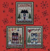Waxing Moon Designs - Christmas House Trio THUMBNAIL