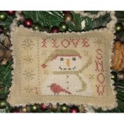 Homespun Elegance - 2018 Snowman Ornament - I Love Snow