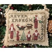 Homespun Elegance - 2018 Santa Ornament - Never Enough Santas