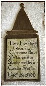 Lucy Beam Love In Stitches - Ghost of Christmas Past Tombstone THUMBNAIL